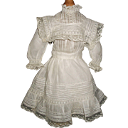 Beautiful Antique Batiste Doll Dress, Kestner, Handwerck