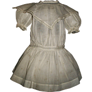 Fabulous Antique Drop Waist Doll Dress, French or German