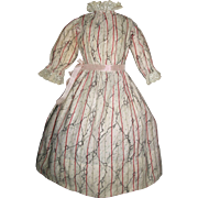 Lovely Antique Cotton Doll Dress, Papier Mache / China