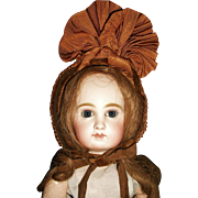 Wonderful Antique Straw Doll Bonnet