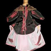 Fabulous Fashion Doll 2Pc Dress, Antique Fabric