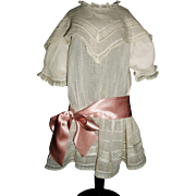 Pretty Antique Batiste Drop Waist Doll Dress