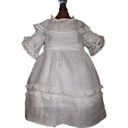 Lovely Early White Organdy Doll Dress