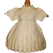 Wonderful Early Vintage Wool Knit Doll Dress