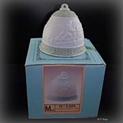 Lladro 1988 Christmas Bell Ornament Santa Sledding