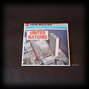GAF View-Master United Nations World Travel 3 Reel Complete Packet A651 Like New