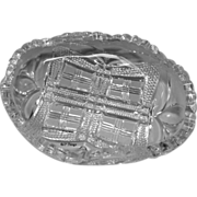 EAPG Cornell Victorian Calling Card Holder Tarentum Glass Company