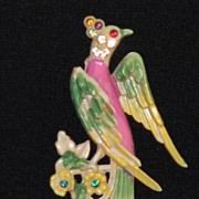 Fabulous Bird of Paradise Brooch/Pin - 1930's