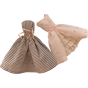 Vintage Barbie Cotton Casual dress #912;  Barbie Garden Party dress #931