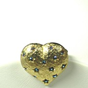 SOLD Vintage Weiss Heart Pin