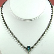 SALE PENDING Vintage Imitation Pearl Dangle and Rhinestone Necklace