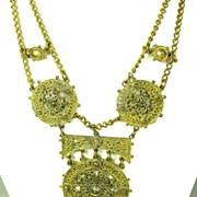 SALE Vintage Chanel Novelty Company 1941 Festoon Necklace