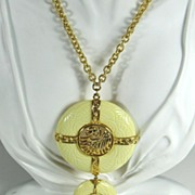 SALE Vintage Hattie Carnegie Oriental Themed Bird Necklace