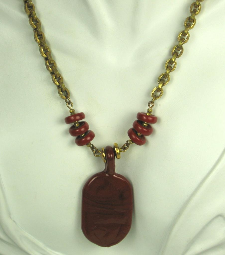 Miriam Haskell Red Stone Necklace from judysgems on Ruby Lane