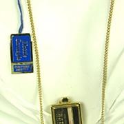 SALE Rare Hattie Carnegie Love Meter Necklace with Original Price Tag