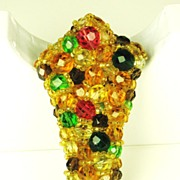 SALE Coppola e Toppo Multi-Colored Crystal Bead Pin