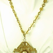 REDUCED Vintage Miriam Haskell Imitation Pearl Floral Motif Necklace