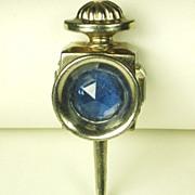"""SALE Vintage Hattie Carnegie """"HC"""" Blue Gemstone Lantern Fur Clip"""
