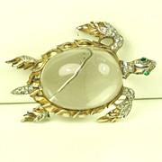 SALE Trifari Sterling and Lucite Jelly Belly Sea Turtle
