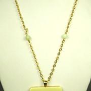 SALE Vintage Hattie Carnegie Faux Ivory Dragon Necklace
