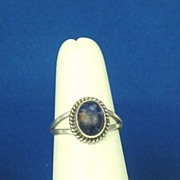 SALE Vintage Nakai Navajo 925 Sterling and Lapis Ring