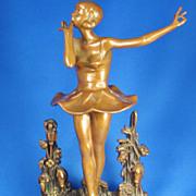 SALE 1920s Pompeian Bronze Dancing Ballerina Statue
