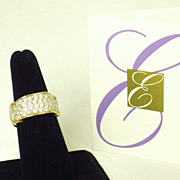 Elizabeth Taylor for Avon Brilliance Ring with 22kt Gold Plate and Pave Rhinestone