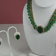 SALE Vintage Hattie Carnegie Necklace and Earring Set