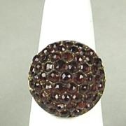 SALE Vintage Deep Red Bohemian Garnet Cluster Ring