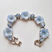 Verified D&E Juliana Glass Flower & Rhinestone Bracelet