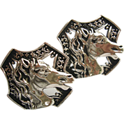 SALE Vintage Swank Horse Head Cufflinks Extra Large