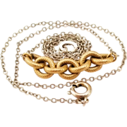 "SALE Beautiful Krementz gold filled necklace 15"" long Nice!"