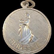SALE Vintage Bridesmaid Sterling Silver Charm / Pendant