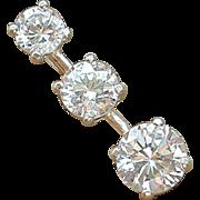 SALE Sterling Silver CZ Pendant