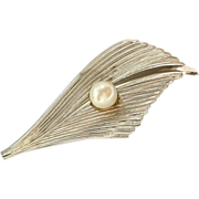 SALE Vintage Milano 1/20 12 k GF with Cultured Pearl Pin / Brooch