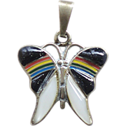 Sterling Silver Inlay Butterfly Pendant