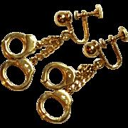 Vintage Alice Handcuff Earrings Screw back style