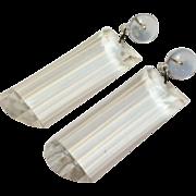 SALE Wonderful Big Retro Clear Acrylic Rectangular  Drop Earrings