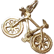 SALE Vintage Sterling Silver Bicycle / Bike  Charm / Pendant  - 925