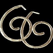 SALE Vintage Sterling Silver Spiral Earrings