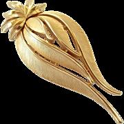 SALE Vintage Brushed Gold Tone Trifari Pin