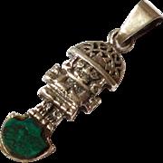 SALE Sterling Silver Inca  Mayan  / Pendant - 925