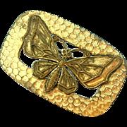 SALE Early Metal Butterfly Pin Brooch Victorian