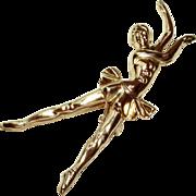 SALE Sterling Silver Ballerina Pin
