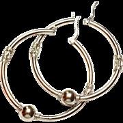 SALE Sterling Silver Hoop Earrings 925
