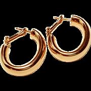 Milor Brass Hoop Earrings Italy