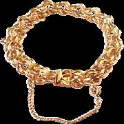 """SALE Unique JB Champion Double Link Charm Bracelet 7 1/2"""""""