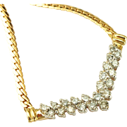 """SALE V Shaped 1.32cttw Diamond Necklace on 19"""" Chain in 14K Yellow Gold 8.0g"""