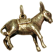 Awesome Vintage Sterling Silver Donkey / Ass Charm / Pendant