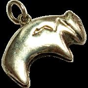 Vintage Sterling Silver Bear Charm Pendant  South Western Bear